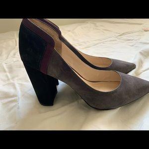 Nine West block heel pumps